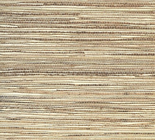 "Manhattan comfort NW488-413 Madison Series Raw Jute Paper Weaves Grass Cloth Design Large Wallpaper Roll, 36"" W x 24"