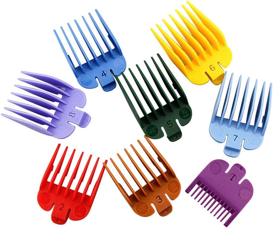 Chutoral – Cortapelos Limit Peine Set, Cortapelos Juego de guía de peine Máquina de cortar el pelo eléctrica Cortapelos Máquina de cortar pelo Caliper peluquería Herramienta