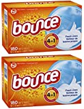 Bounce Fresh Linen Scent Fabric Softener Sheets, 180 Count (Pack of 2)