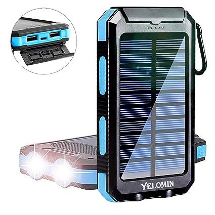 Amazon.com: Yelomin - Banco de energía solar, cargador ...