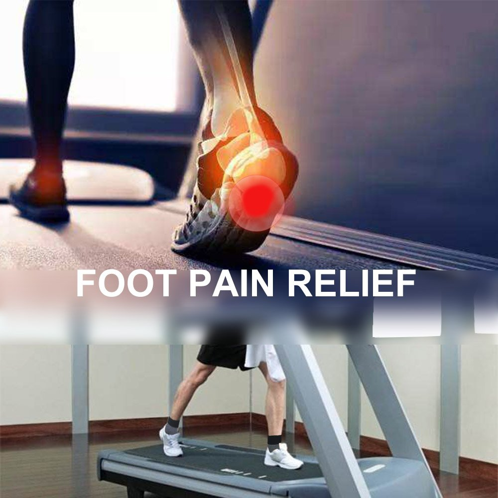 Bellamei Plantar Fasciitis Socks for Men & Women - (20-30 mmHg) Best Compression Foot Sleeves Provide Effective Relief from Plantar Fasciitis, Foot Pain, Heel Spurs, Edema, Achilles Tendonitis (L)