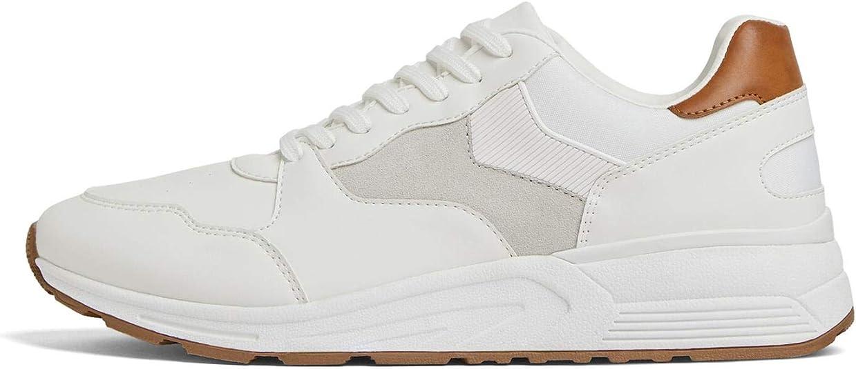 Zara 2358/002 Zapatillas clásicas para Hombre, Color Blanco ...