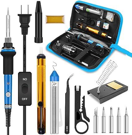 Kit de soldador de hierro herramienta de soldadura mejorada azul
