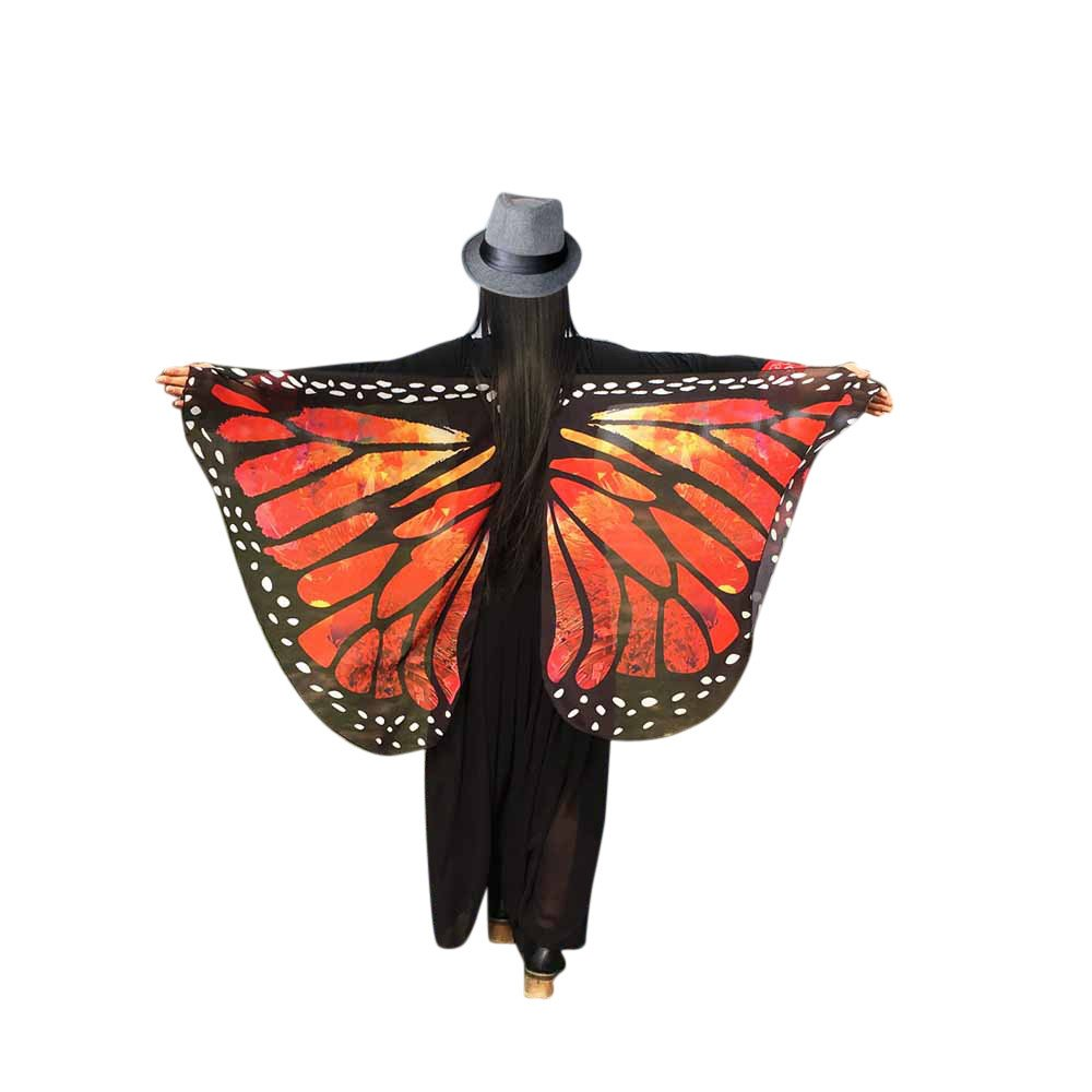 WOCACHI Vanlentine Day Halloween Costume Butterfly Wings Scarves, Women Cloak Cape Poncho Pixie Party Show 2019 Spring Under 5 Deals