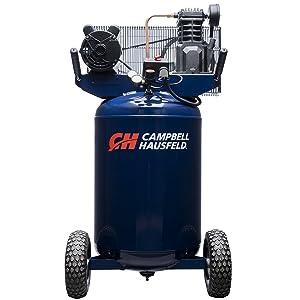 Vertical 30 Gallon Portable Air Compressor - 5.5CFM, 2HP, 120V/240V, Single Stage, 1 Phase (Campbell Hausfeld VT6358)