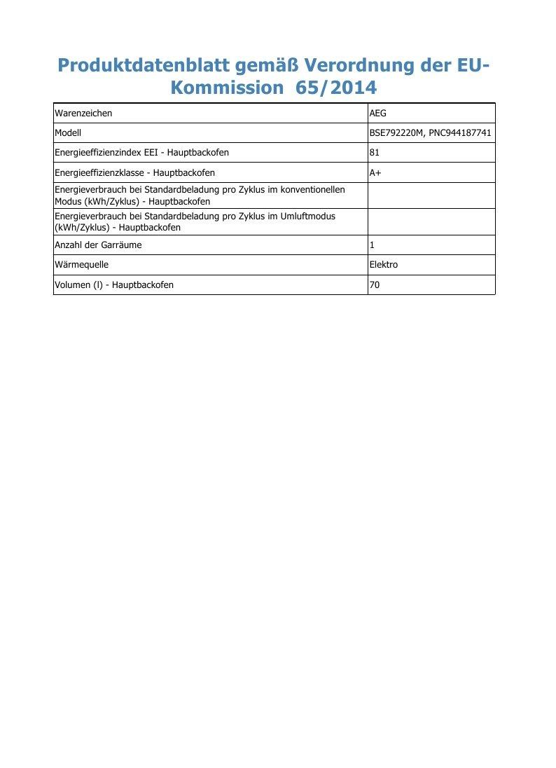 AEG BSE792220M Einbau-Backofen / SteamPro