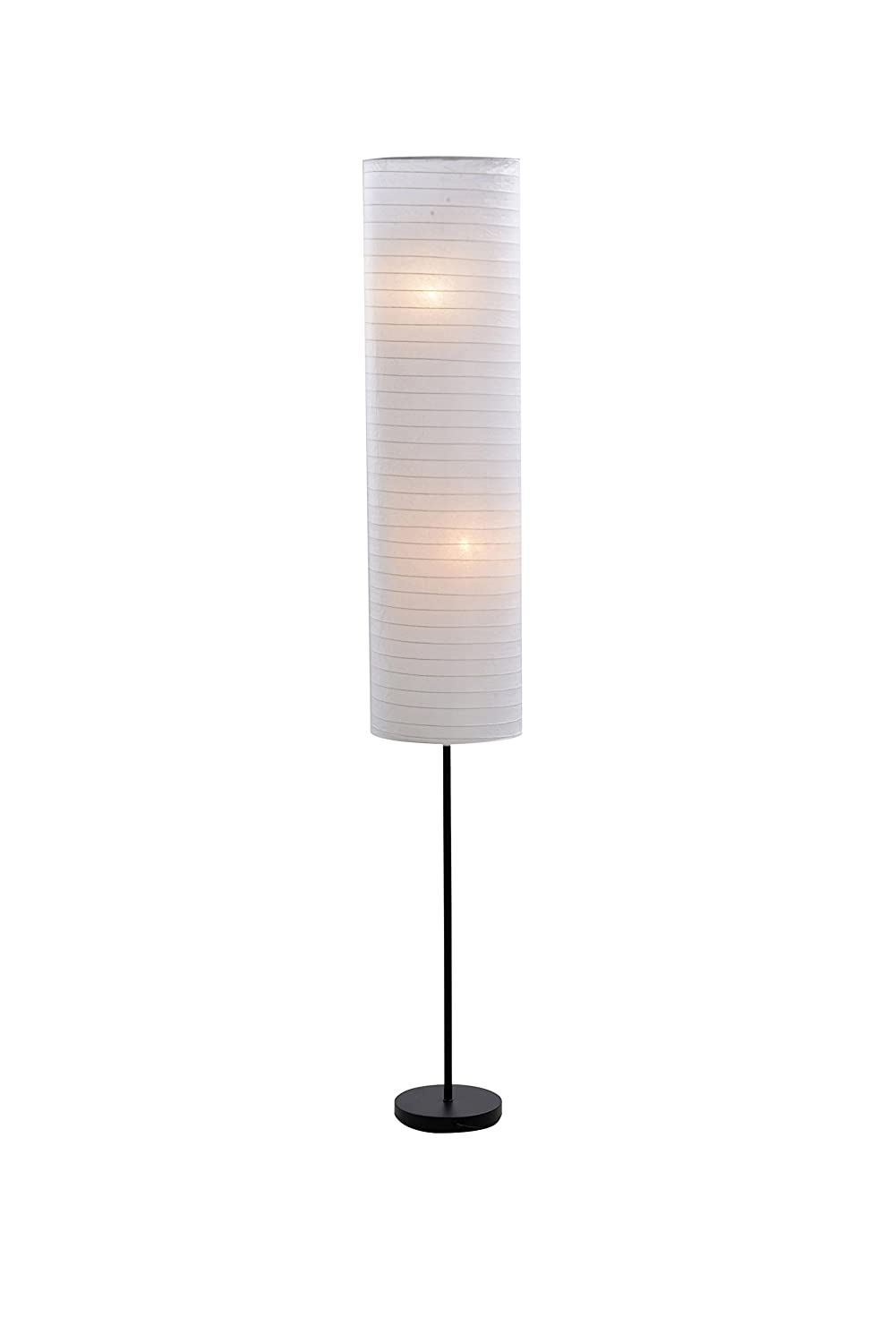 Amazon catalina 18583 000 paper stick floor lamp with rice amazon catalina 18583 000 paper stick floor lamp with rice paper shade 70 inch black home improvement aloadofball Image collections