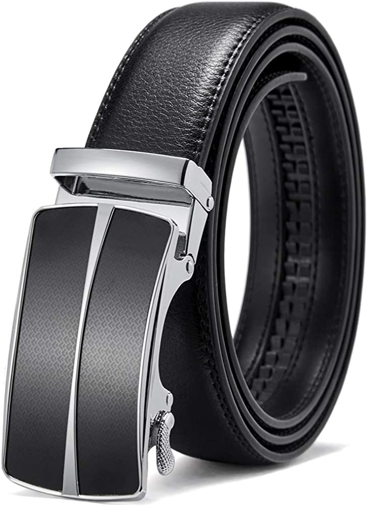 Real Leather Belt For Mens T2 Black High Quality Cow Hide Trouser Jeans Belt NEW