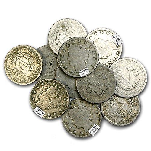 Liberty Nickel Head (1883 - 1912 Liberty Head V Nickel Avg Circ Nickel Very Good)