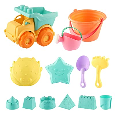Kids Beach Toys Set , Kids Gardening Sand Play Set Bath Play Set Bucket Set Fun Toys Gift for 3-12 Years Children Outdoor & Indoor Play (13Pcs): Toys & Games