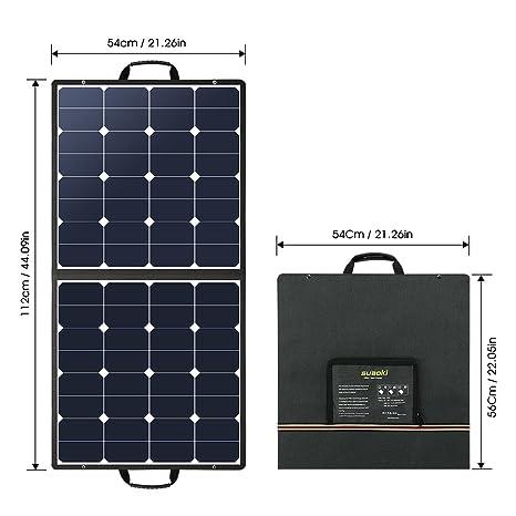 Amazon.com: SUAOKI 100W 18V 12V Cargador Solar Panel ...