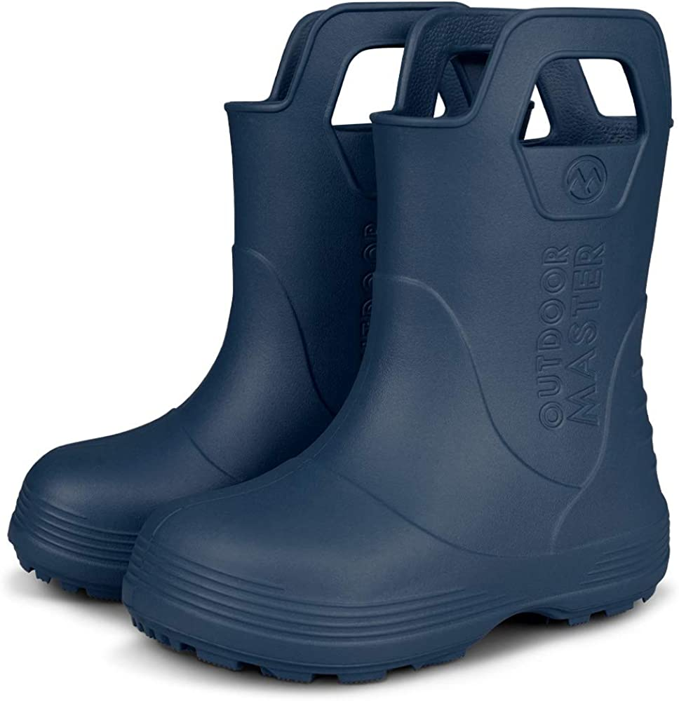 Toddler Rain Boots Baby Rain Boots Short rain Boots for Toddler Easy-on Lightweight and Waterproof