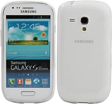 REY Funda Carcasa Gel Transparente para Samsung Galaxy S3 Mini, Ultra Fina 0,33mm, Silicona TPU de Alta Resistencia y Flexibilidad: Amazon.es: Electrónica