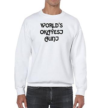 3f86c8d8 AW Fashions World's Okayest Aunt Unisex Crewneck Sweatshirt (Small, White)