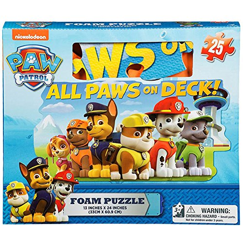 3 Floor Puzzle Mat - Gift Item Paw Patrol Foam 25 Piece Floor Puzzle by Cardinal Piece, Multicolor