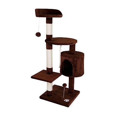 Dibea - Rascador para Gatos, Centro de Actividades, Poste para rascar, 112 cm