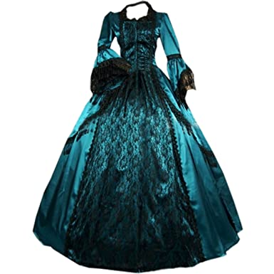 9ede9ac5253 Pevor Womens Gothic Victorian Fancy Dresses Ball Gown Masquerade Costumes S