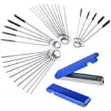 Gzingen Carburetor Carbon Dirt Jet Remove Cleaner 26 Cleaning Wires Torch Tip Cleaner Tool +20 Cleaning Needles +10…