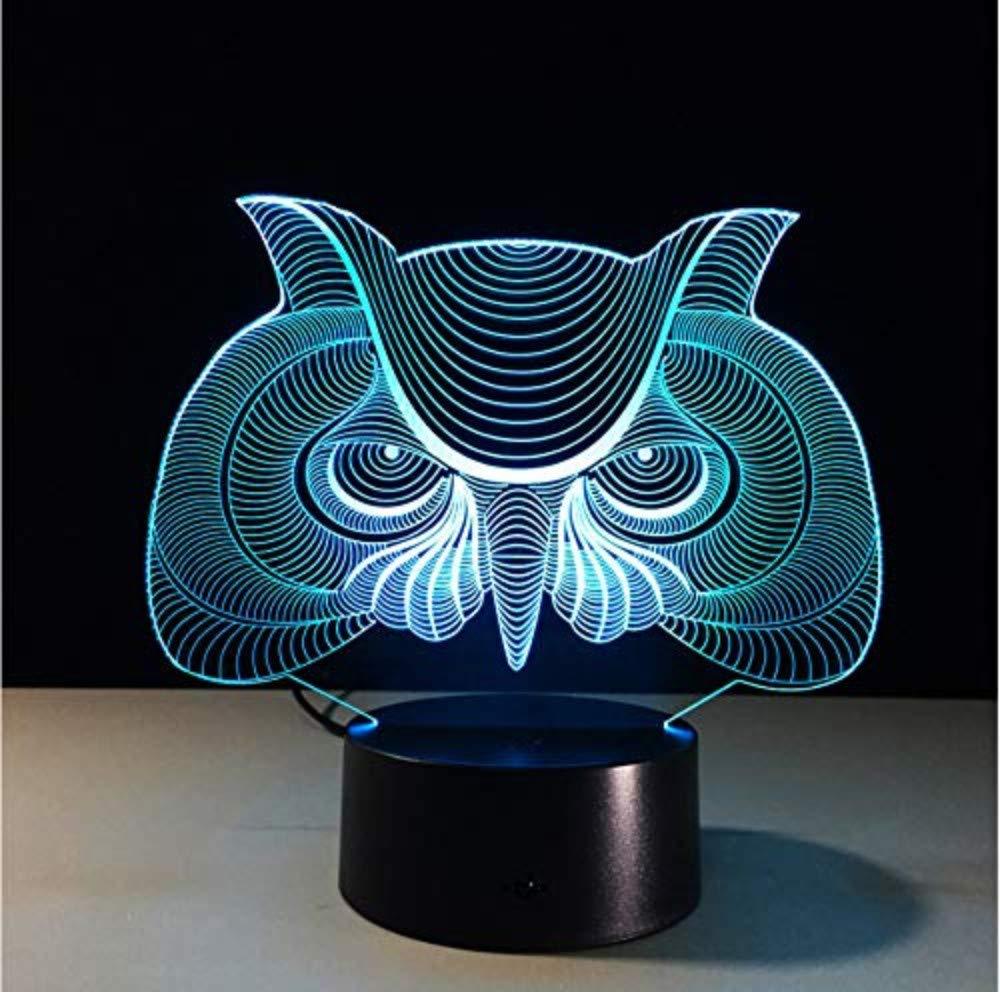 3d Acrylic Night Light Eulenform 3d Led Nachtlicht Baby