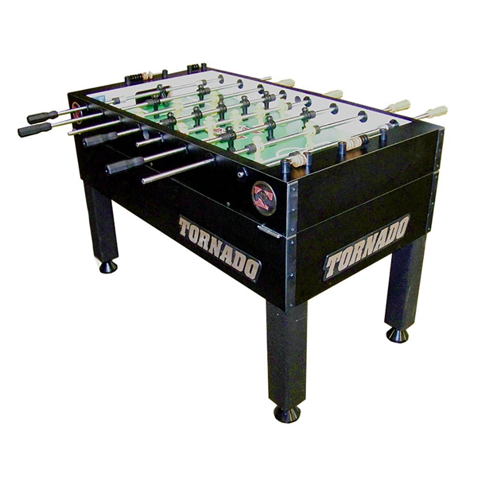 Tornado Foosball Table - Made in The USA - Commercial Tournament Quality for The Home - Made by Valley Dynamo - Incredible Table Soccer Game (Tournament 3000-1 Man Goalie, Black) by Tornado