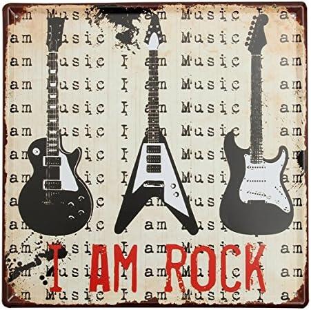 Bluelover Decoración De La Pared Guitarra Lata Signo Vintage Metal ...