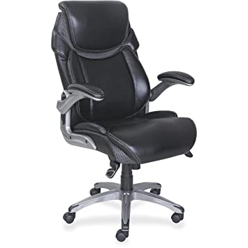 Amazoncom Lorell Wellness By Design Leather Executive Office Chair