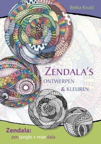 Zendalas ontwerpen en kleuren: zendala zentangle + mandala