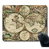 Decorative Art Print Vintage World Map Mouse Pad