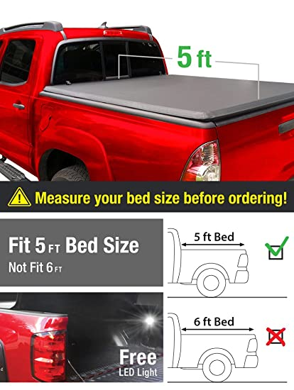 Delightful MaxMate Tri Fold Truck Bed Tonneau Cover Works With 2016 2018 Toyota Tacoma  |