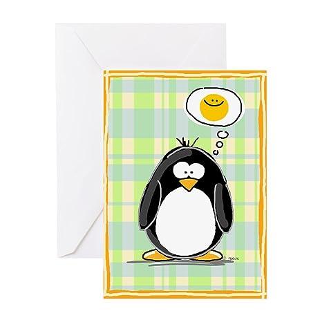 Amazon Cafepress Thinking Of You Penguin Greeting Card