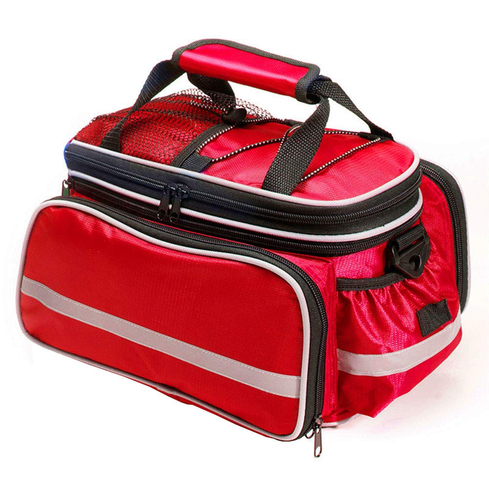Red Mountain Bike Rear Shelf Bag, Waterproof and Tear Resistant Bicycle Bag MultiFunction Male and Female Bag Riding Equipment 20LLXZXZ