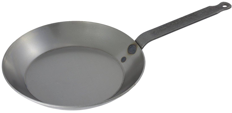 Matfer Bourgeat 062005 Black Steel Round Frying Pan, 11 7/8-Inch, Gray by Matfer Bourgeat: Amazon.es: Hogar