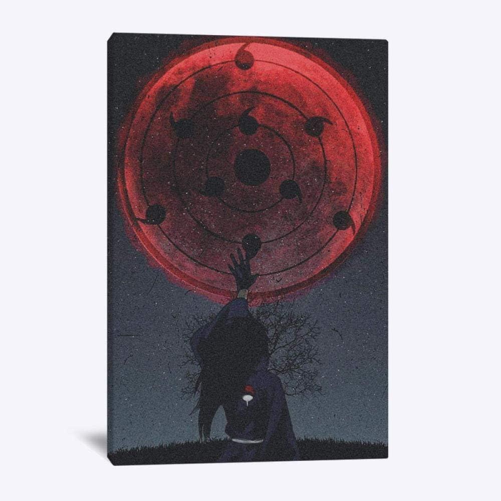 haiyilan sobre Lienzo Wallfillers/ã Painting Figura Negra Poster Decor En Lienzo Dibujos Animados Madara Uchiha Personaje Naruto En Lienzo Impresi/ón De Decor Impresiones De Lienzo De Pared