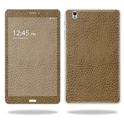 "UPC 682017802046, Mightyskins Protective Vinyl Skin Decal Cover for Samsung Galaxy Tab Pro 8.4"" T320 Tablet skins wrap sticker skins Sandalwood Leather"