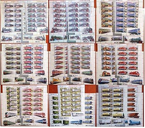 Mnh Trains (Ukrainian stamps / Ukraine 2005-2013 Trains full set 35 Sheets MNH** Wagon/Locomotives)