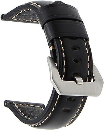 20mm 22mm 24mm 26mm Italie en Cuir Véritable Bande De Montre pour Panerai Luminor Radiomir en Acier Inoxydable Boucle De Montre Bracelet Dragonne