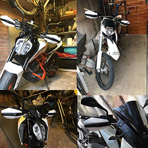 Motorcycle Handguards Hand Guards Dirtbike Handlebar 7//8 1 1//8 For Kawasaki KLX110 KLX150 KX65 KX85 KX125 KX250 KX250F KX450F Universal White