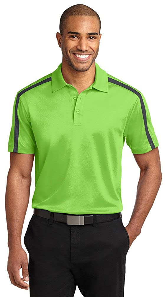 Port Authority Silk Touch Performance Colorblock Stripe Polo