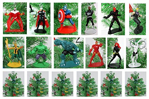 AVENGERS Mini Christmas Tree Ornaments Set - 2