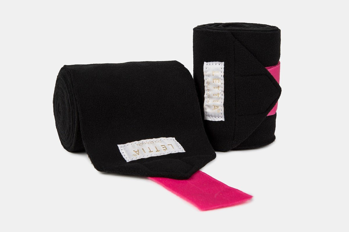 Union Hill Lettia ICE Polo Wraps Black and Pink