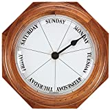 Oak Frame Day Clock Timepiece Home Accent Decor