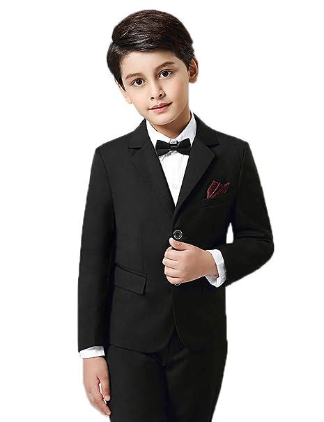 acfe9a3839bb JYDress Boys' Formal Black/Blue Suit Slim Fit Occasion Dresswear Suit Bowtie  Set: Amazon.ca: Clothing & Accessories