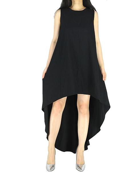 b4652718172e1 YSJERA Women s Chiffon Solid Sleeveless High Low Maxi Dress Evening Party  Dresses (4