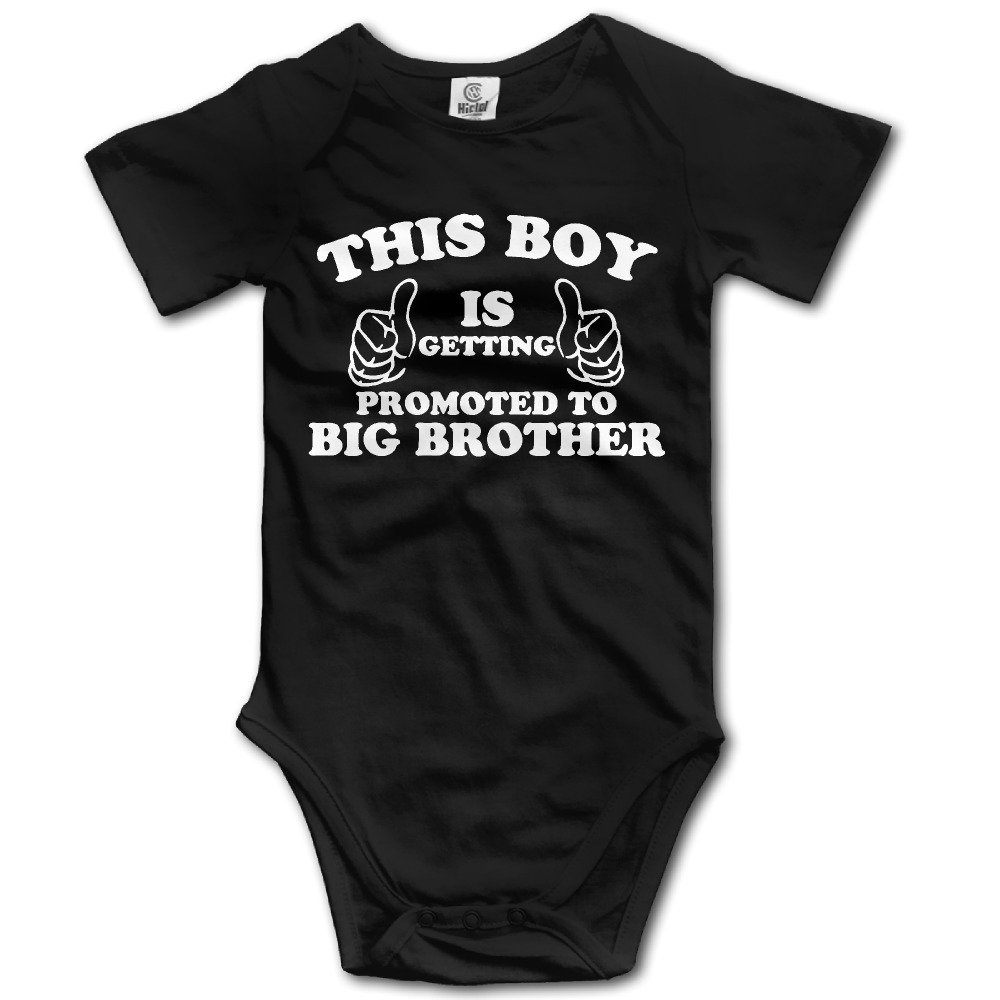 Newborn Baby Getting Promoted To Big Brother Short-Sleeveless Romper Jumpsuit Bodysuit
