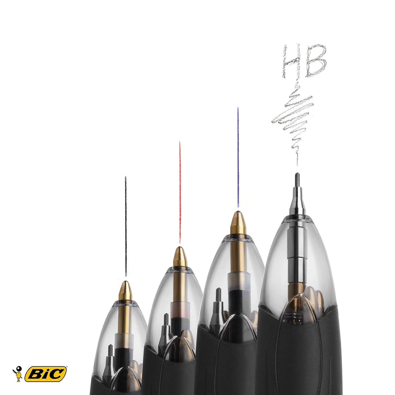 Bic 4 Colour Multifunction Black//Blue//Red//Pencil PK12