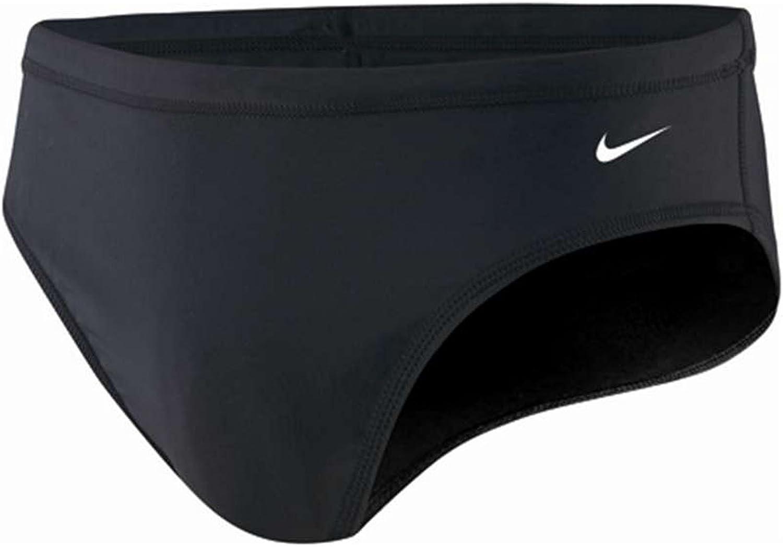 Redundante Por favor Ser  Nike Men's Nylon Core Solid Brief Swimsuit, Black: Amazon.co.uk: Clothing