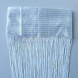 Magik 2 Pack Line String Panel Window Curtain Tassel Fringe Door Room Divider (White)