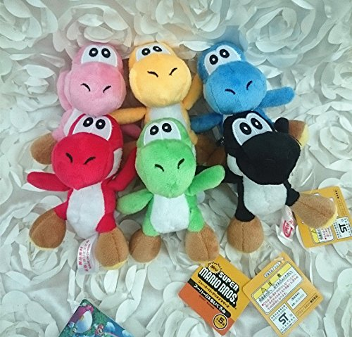 Super Mario 6pcs Yoshi Keychain Plush Toy Set