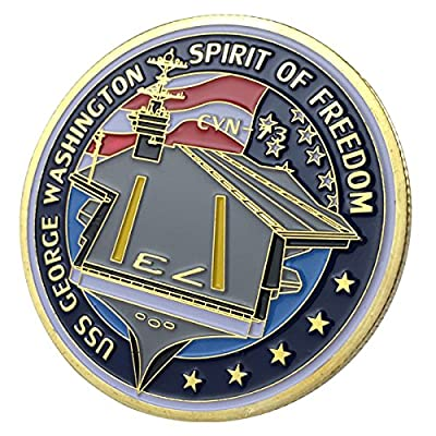 U.S. Navy USS George Washington Spirit Of Freedom / CVN-73 GP Challenge Coin 1133#: Everything Else