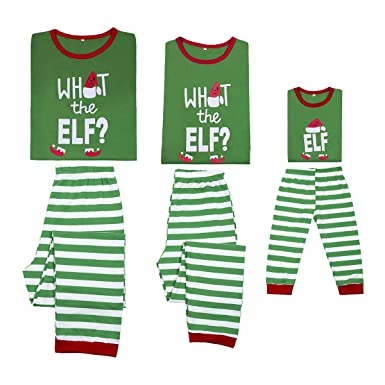 Christmas Green Elf Pyjamas Matching Family PJs Mum  Dad  Little Elf Fancy  Dress 2a10aeef1